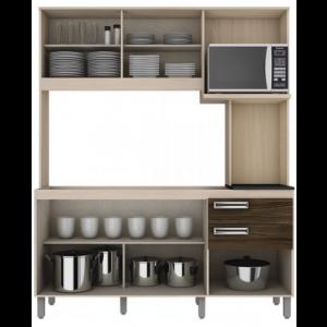 Cozinha Compacta Briz - Fendi/ Moka