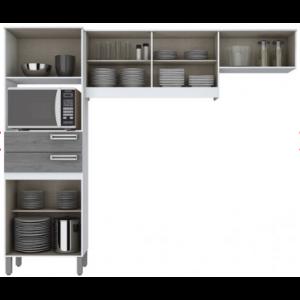 Kit Cozinha Compacta Briz - Branco/ Gris