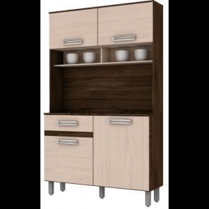 Kit Cozinha Compacta Briz - Moka/ Fendi